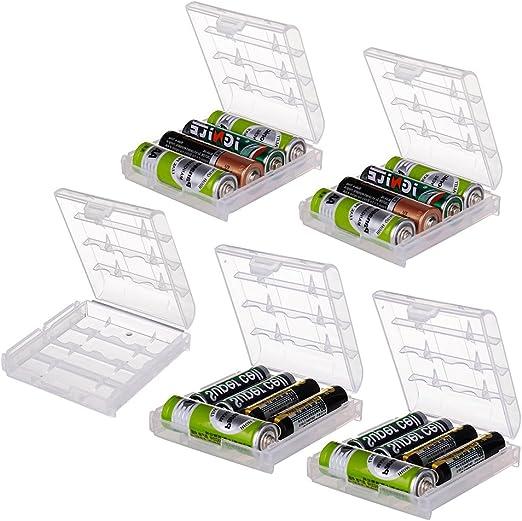2 X AA Pilas AAA Bateria Soporte de caja de almacenamiento de plástico duro caja Recargable//I