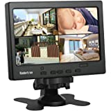 """7"""" LCD CCTV Monitor with HDMI/VGA/AV Port Support 1080P for DSLR/PC/CCTV Camera/DVD/Car Backup Camera/Home Office Surveillance Security System"""