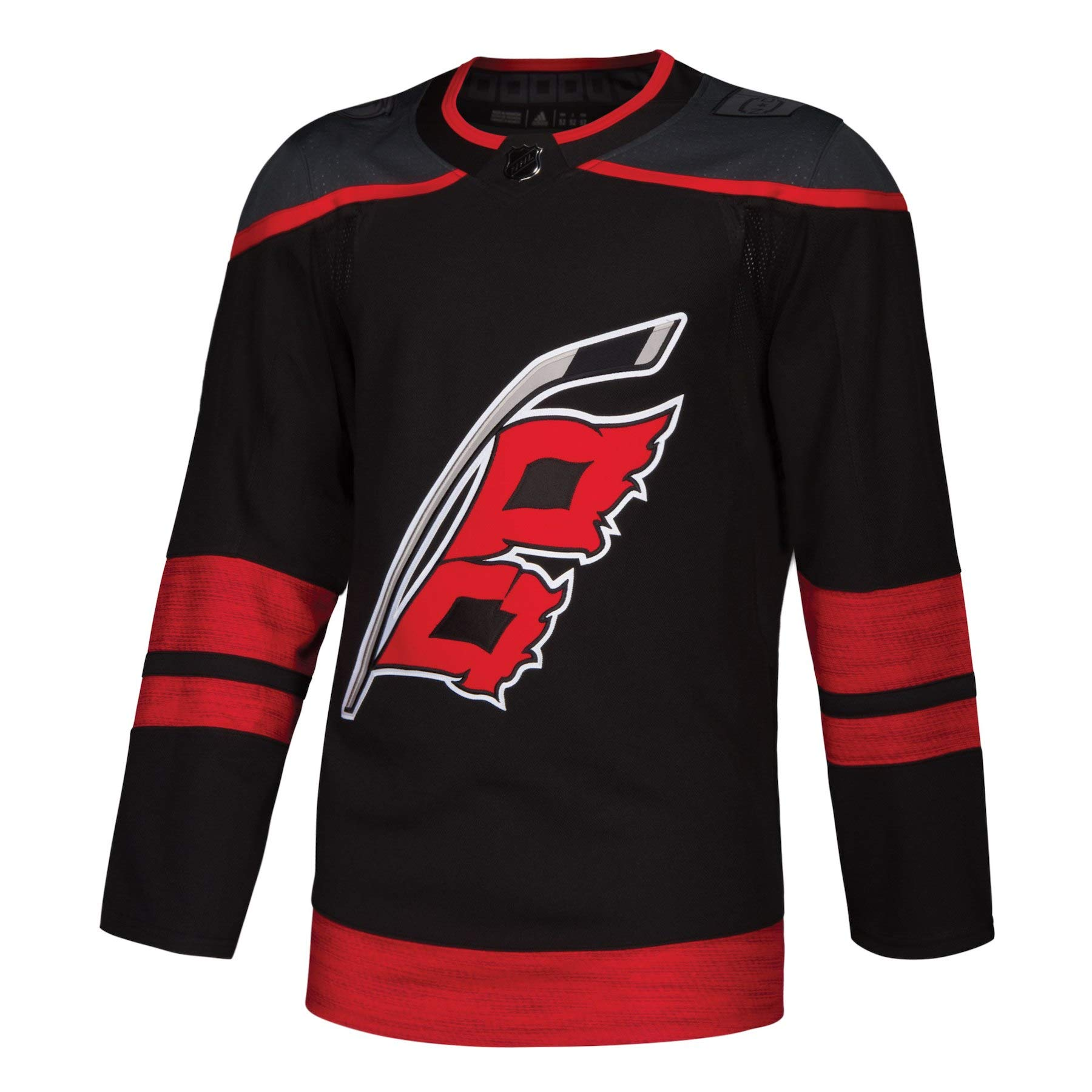 adidas Carolina Hurricanes Alternate Black NHL Men's Climalite Authentic Team Hockey Jersey (46/S)