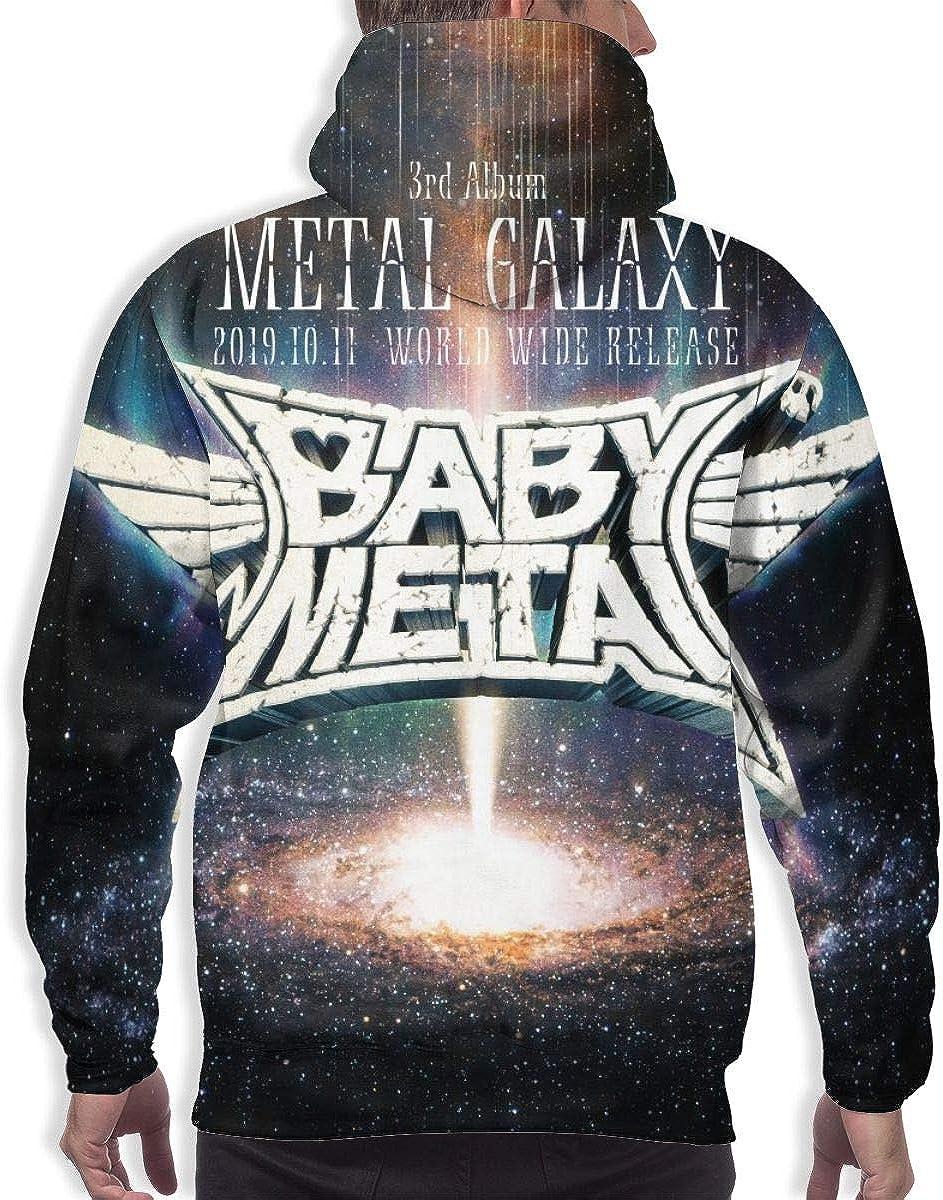 NATHANDAVISON Babymetal Metal Galaxy Casual 3D Printed Hip Hop Pullover Man Hooded Sweatshirt