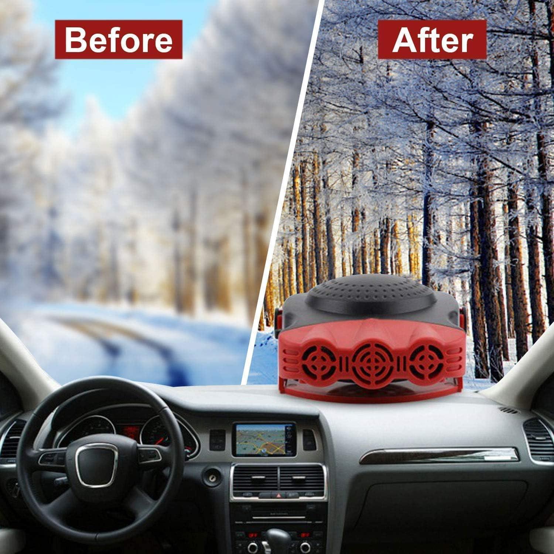 Automobile Windscreen Fan Demister Car Heater Portable Car Heater Defogge Defroster 2 in 1 Cooling /& Heating Car Fan Vehicle Electronic Air Heater Defrost 12V 150W