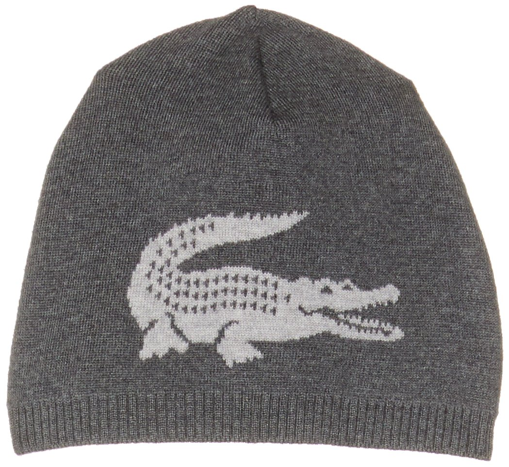 be5f6436b89 Lacoste Men Big Croc Wool Beanie