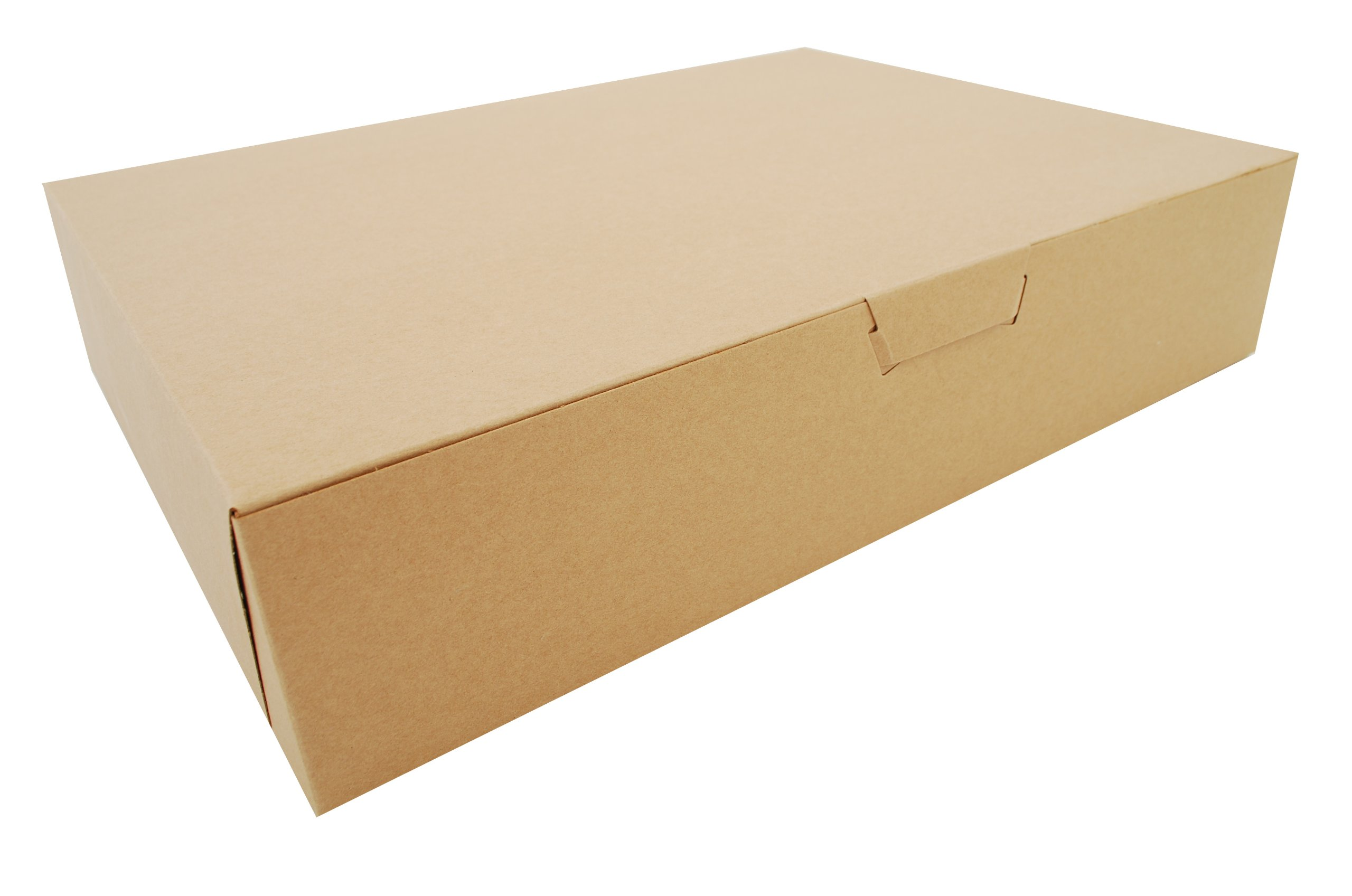 Southern Champion Tray 1029K Kraft Non Window Bakery Box, 19'' Length x 14'' Width x 4'' Height (Case of 50) by Southern Champion Tray