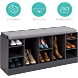Best Choice Products 46in Multifunctional Space Saving Organization Storage Shoe Rack Bench for Entryway, Bedroom…