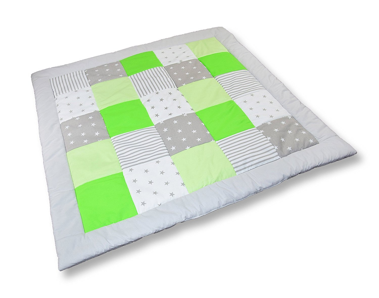 Amilian Krabbeldecke Patchworkdecke Spieldecke Decke (M037) (105x105 cm) Amilian®