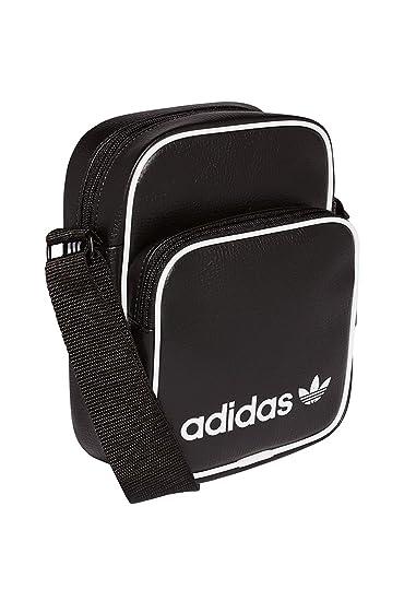 ec1a025afd0 Adidas Unisex's Mini Vintage Messenger Bag, Black, 15 cm x 20 cm x 9 cm:  Amazon.co.uk: Shoes & Bags