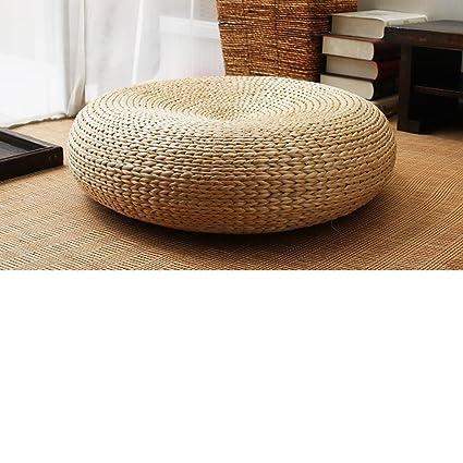 Amazon Com Qtqz Straw Futon Cushion Thick Round Rattan Chair Seat
