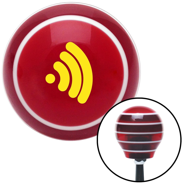 Yellow Wireless American Shifter 119574 Red Stripe Shift Knob with M16 x 1.5 Insert