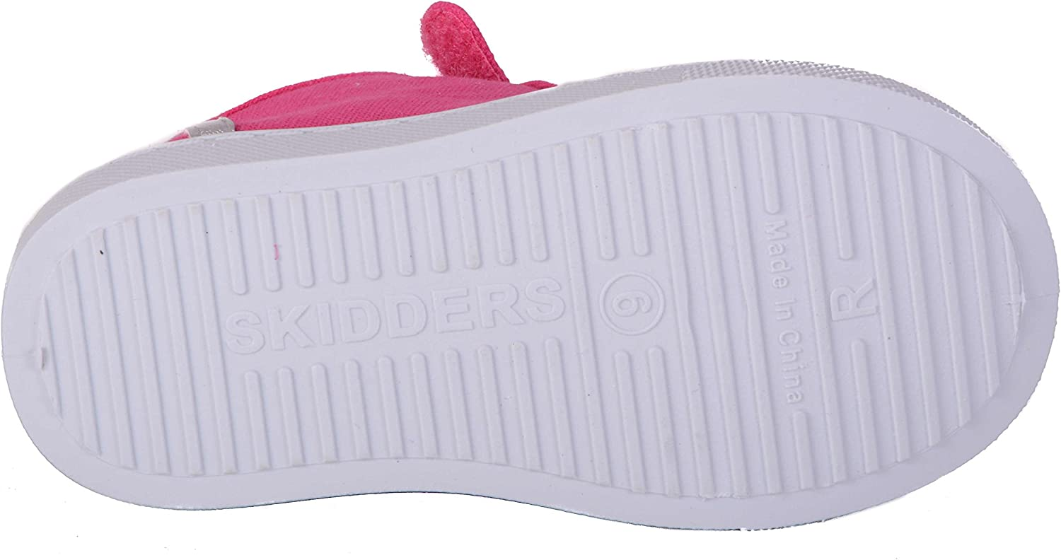 Skidders Toddler Girls High Top Canvas Sneakers SK1033 NWT