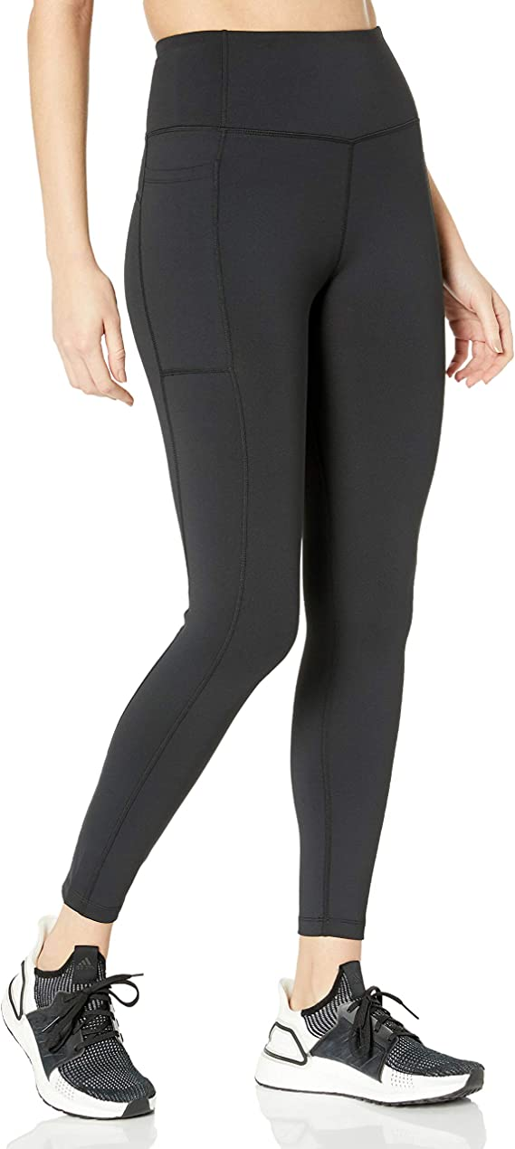 "Amazon Brand - Core 10 Women's High Waist Workout Legging with Pockets - 26"" Inseam"