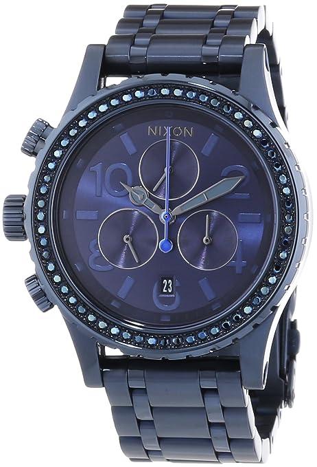 Nixon 38-20 Chrono All Deep Blue Crystal - Reloj de cuarzo para mujer,