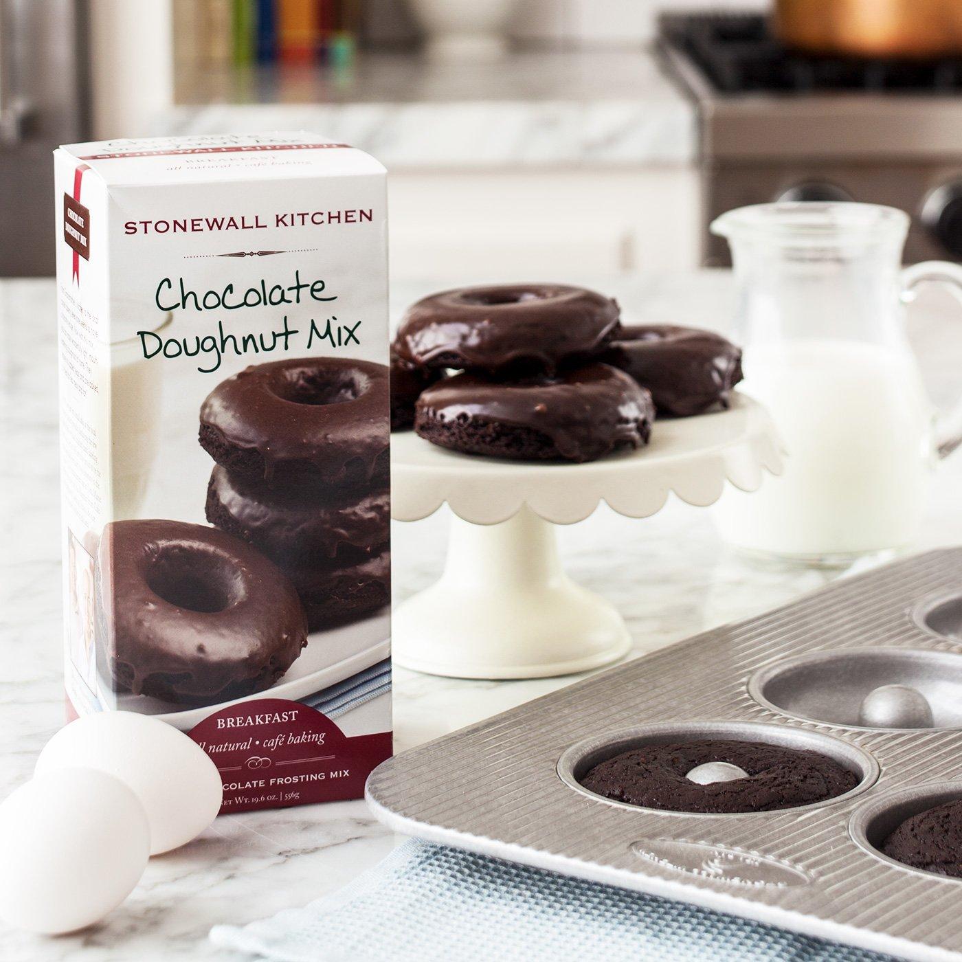Stonewall Kitchen Chocolate Doughnut Mix, 19.6 Ounce Box