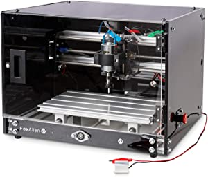 Desktop CNC Router Machine 3018-SE with Enclosure, 300x180mm 3-Axis Milling Machine for Wood Acrylic Plastics Metal Resin Artcraft DIY Design Making
