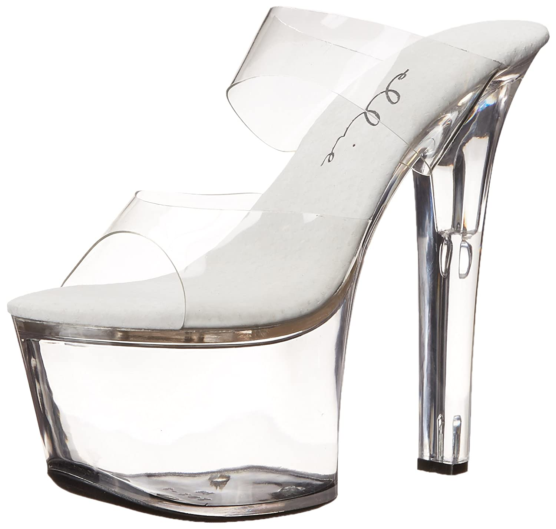 Ellie Shoes Women's 711 Coco Platform Sandal B000B3888C 10 B(M) US|Clear/Clear
