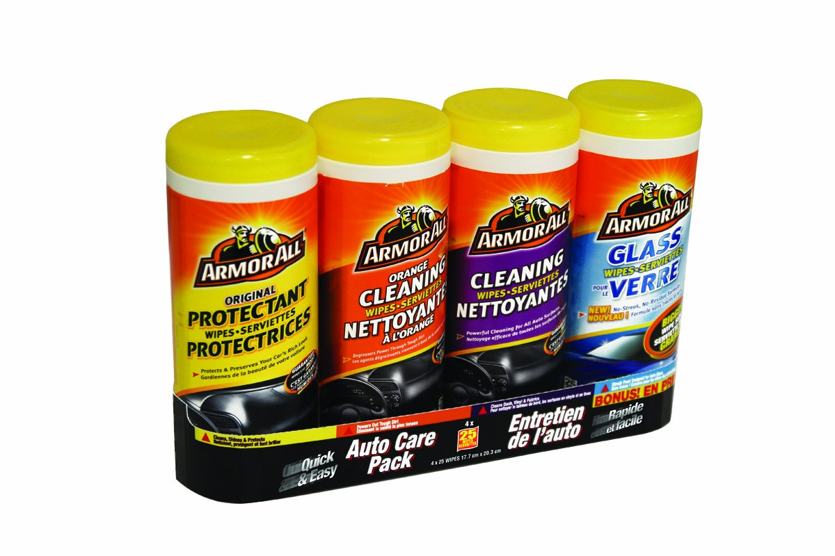 Armor All 4-Pack Wipe Multipack, 4 x 25 Count Armored AutoGroup Canada 10881