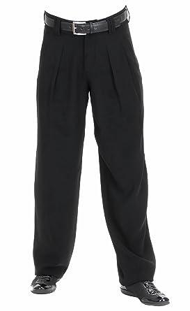 20d5d42a8159 Bundfaltenhose, Model Boogie in schwarz, für Herren Beste QUALITÄT, 301706   Amazon.de  Bekleidung