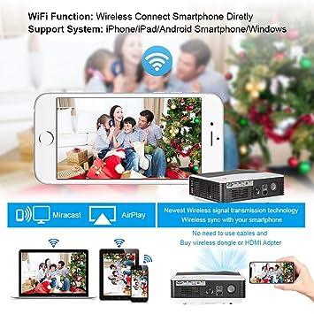Android Proyector de Video WiFi TV Digital 200