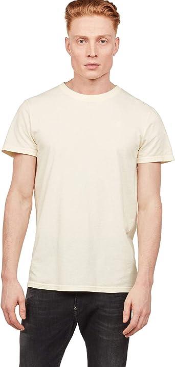 G-Star de los Hombres Camiseta de Tinte Reciclado, Amarillo ...