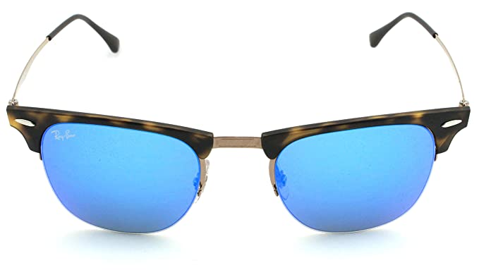 aced7204b7 ... spain amazon ray ban rb8056 clubmaster light ray titanium sunglasses  tortoise frame blue mirror lens 175 ...