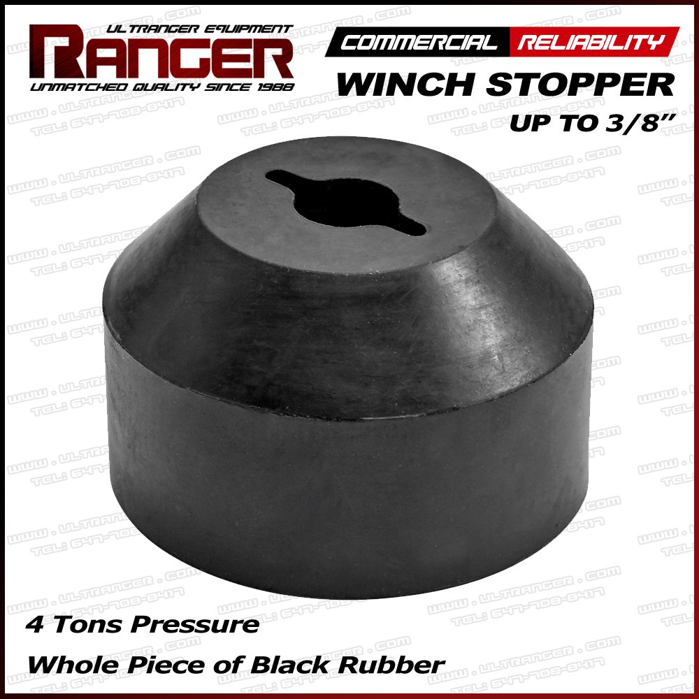 Ranger ATV, UTV, Jeep, Pickup, Truck Winch Stopper Line Saver for 3/16', 1/4', 5/16', 3/8' Synthetic or Wire Rope for Winch by Ultranger Truck Winch Stopper Line Saver for 3/16 1/4 5/16 3/8 Synthetic or Wire Rope for Winch by Ultranger ASTP