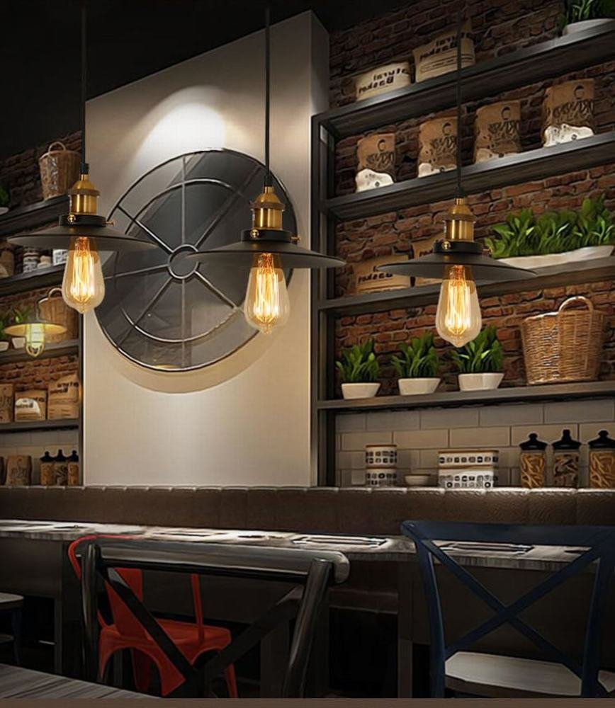 DEN Retro LOFT creative personality Internet cafe restaurant bar chandelier,A,36CM by DEN (Image #2)