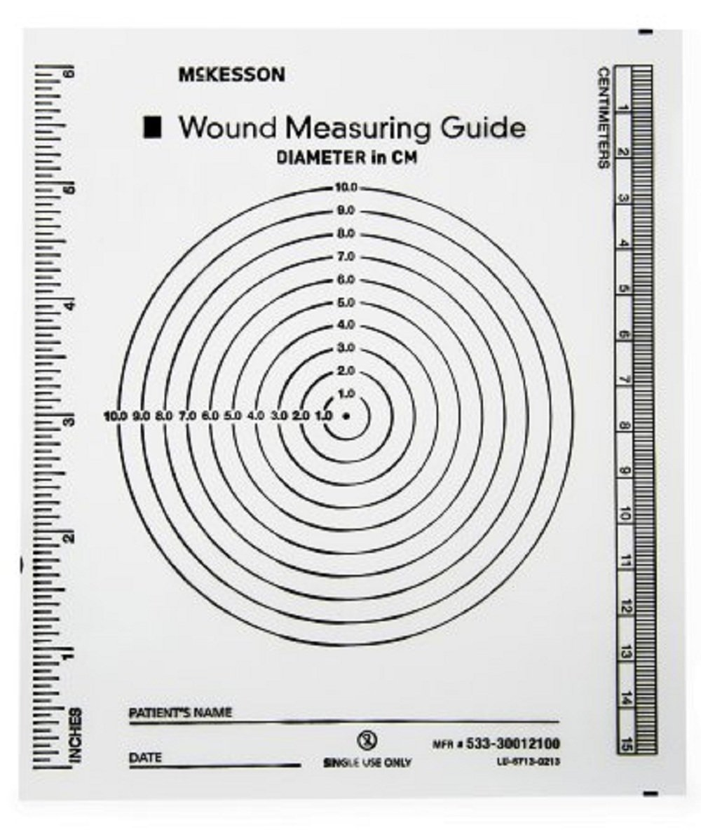 McKesson - Wound Measuring Guide McKesson 5 X 7 Inch Clear Plastic NonSterile - 6000/Case - McK