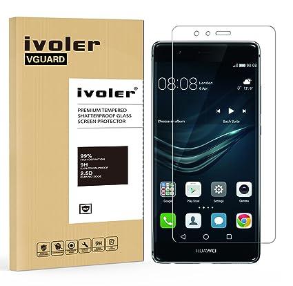 iVoler Protector de Pantalla para Huawei P9 Plus, Cristal Vidrio Templado Premium