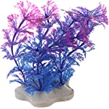 TOOGOO (R)Plantes d'eau Violet Bleu plastique artificielle Decoration pour Aquarium reservoir de poissons