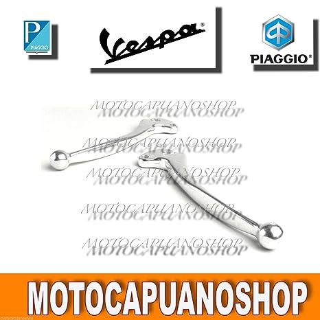 Par Palancas cromadas freno embrague Vespa PX 125 150 200 Arcobaleno