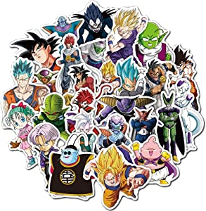 50Pcs Dragon Ball Z Animation Theme Stickers Variety Vinyl Car Sticker Motorcycle Bicycle Luggage Decal Graffiti Patches Skateboard Stickers for Laptop Stickers for Kid and Adult