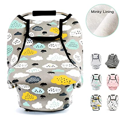 Stretchy Baby Car Seat Covers for Boys Girls Infant Canopy Spring...