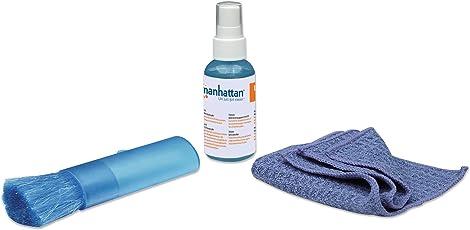 Manhattan ACCITL2250 Limpiador de Pantallas, LCD/TFT/Plasma, Microfibra, color Azul, 60cc