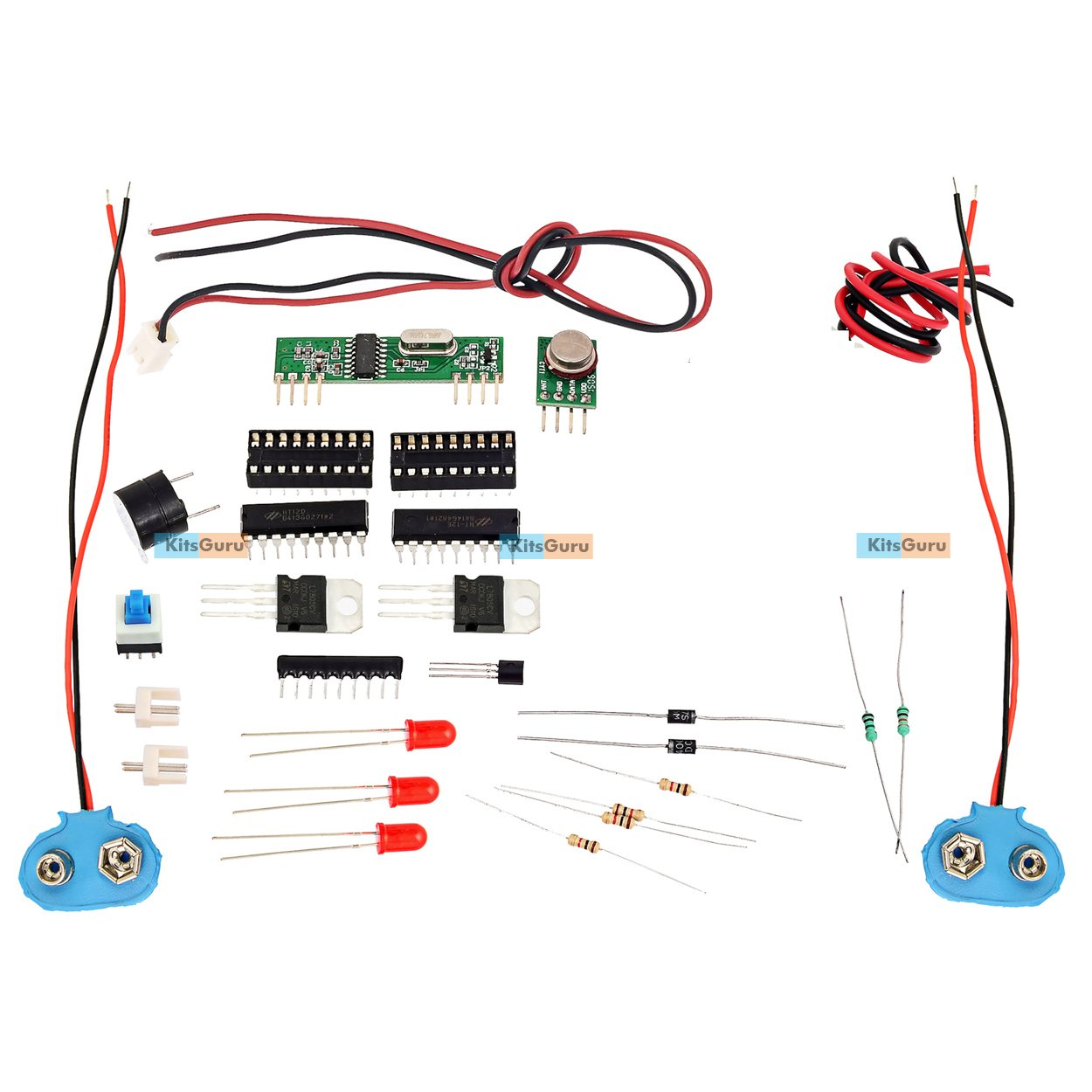 KitsGuru DIY Kit - Wireless Alarm Using Rf Module : Lgkt016