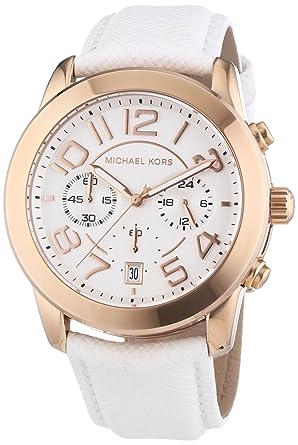 Damenuhren michael kors leder  Michael Kors Damen-Armbanduhr Chronograph Quarz Leder MK2289 ...