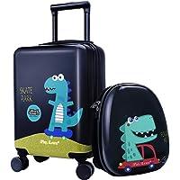 iPlay, iLearn Dinosaur Kids Luggage, Boys Carry on Suitcase, Hard Shell Travel Luggage Set W/ Backpack, Trolley Luggage…