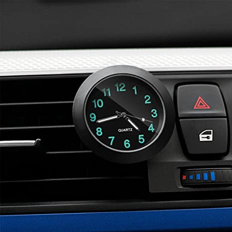 CARGOOL Car Dashboard Clock Mini Vehicle Clock Air Vent Reloj, Negro