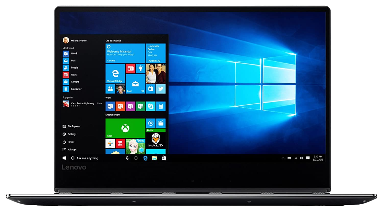 Lenovo Yoga 910 35,3 cm (13,9 Zoll Full HD IPS Multi-Touch) Convertible Notebook (Intel Core i7-7500U, 16GB RAM, 1TB SSD, Intel HD Grafik 620, Windows 10 Home) grau