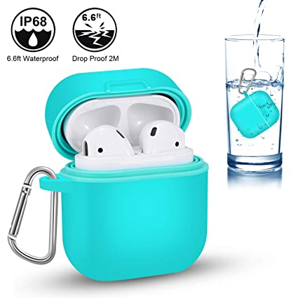pretty nice 2cd64 05047 AddAcc AirPods Waterproof Case Protective Cover Aqua Blue Drop-Proof ...
