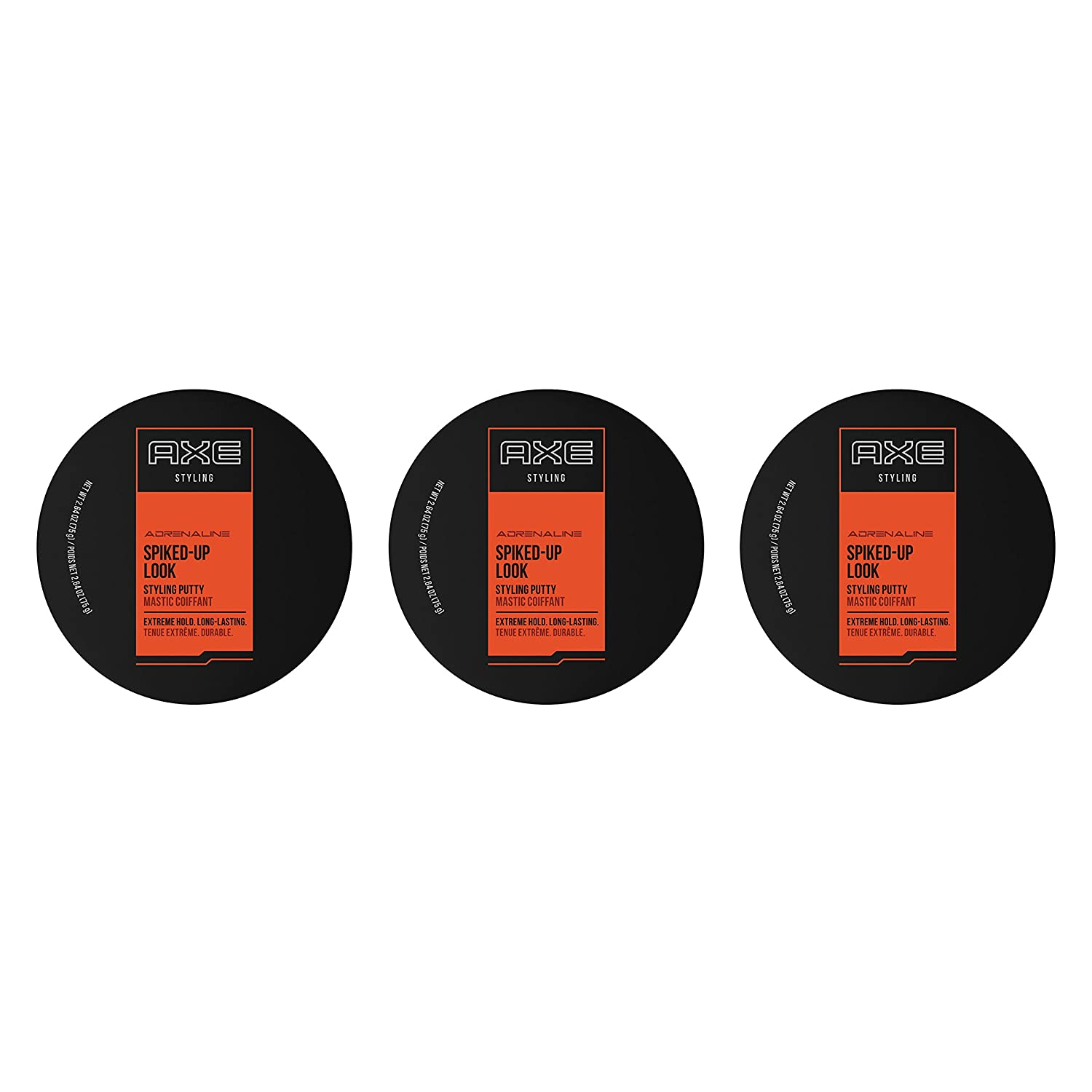 Axe Spiked Up Look Styling Putty, Extreme Hold, 2.64 Ounce (Pack of 3)