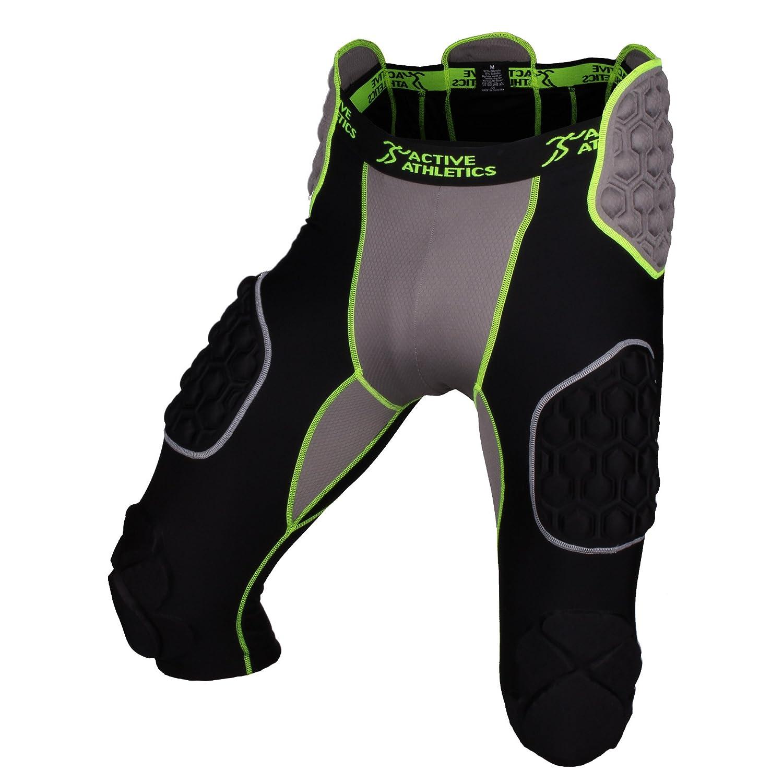 Active athletics elite 7pad American football underpants, black/green
