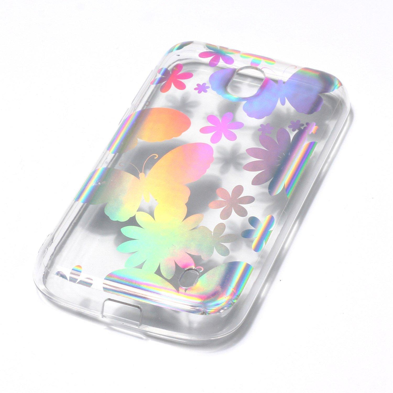 Compatible avec Coque Nokia 1,/Étui Nokia 1,ikasus Coque /Étui Nokia 1 TPU Silicone /Étui Housse T/él/éphone Couverture Laser TPU Hybrid Crystal Clear Skin Slim Coque /Étui pour Nokia 1,Papillon Pissenlit