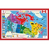 Tot Talk Canada Educational Placemat for Kids, Washable and Long-Lasting, Double-Sided, Made in The USA