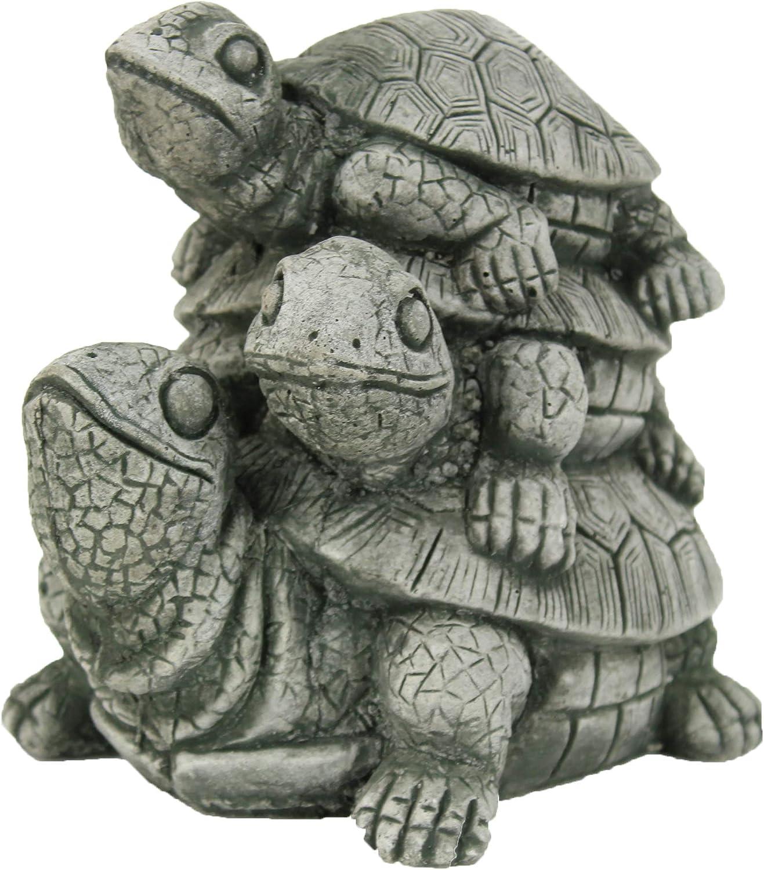 Pila de tortugas tortuga jardín Escultura de Estatua de hormigón: Amazon.es: Jardín