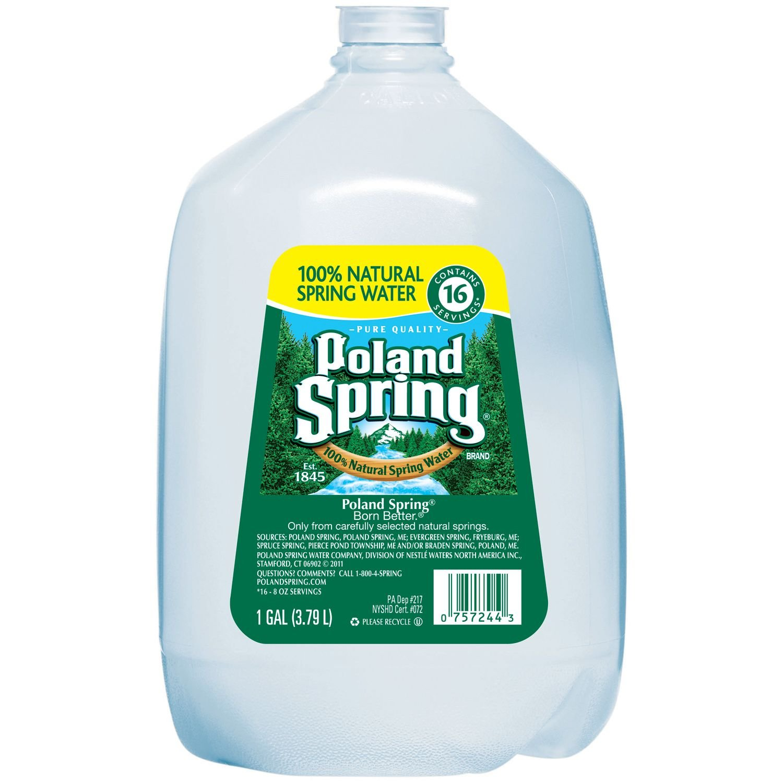 Poland Spring 100% Natural Spring Water (1 gal., 6 pk.) (pack of 2)