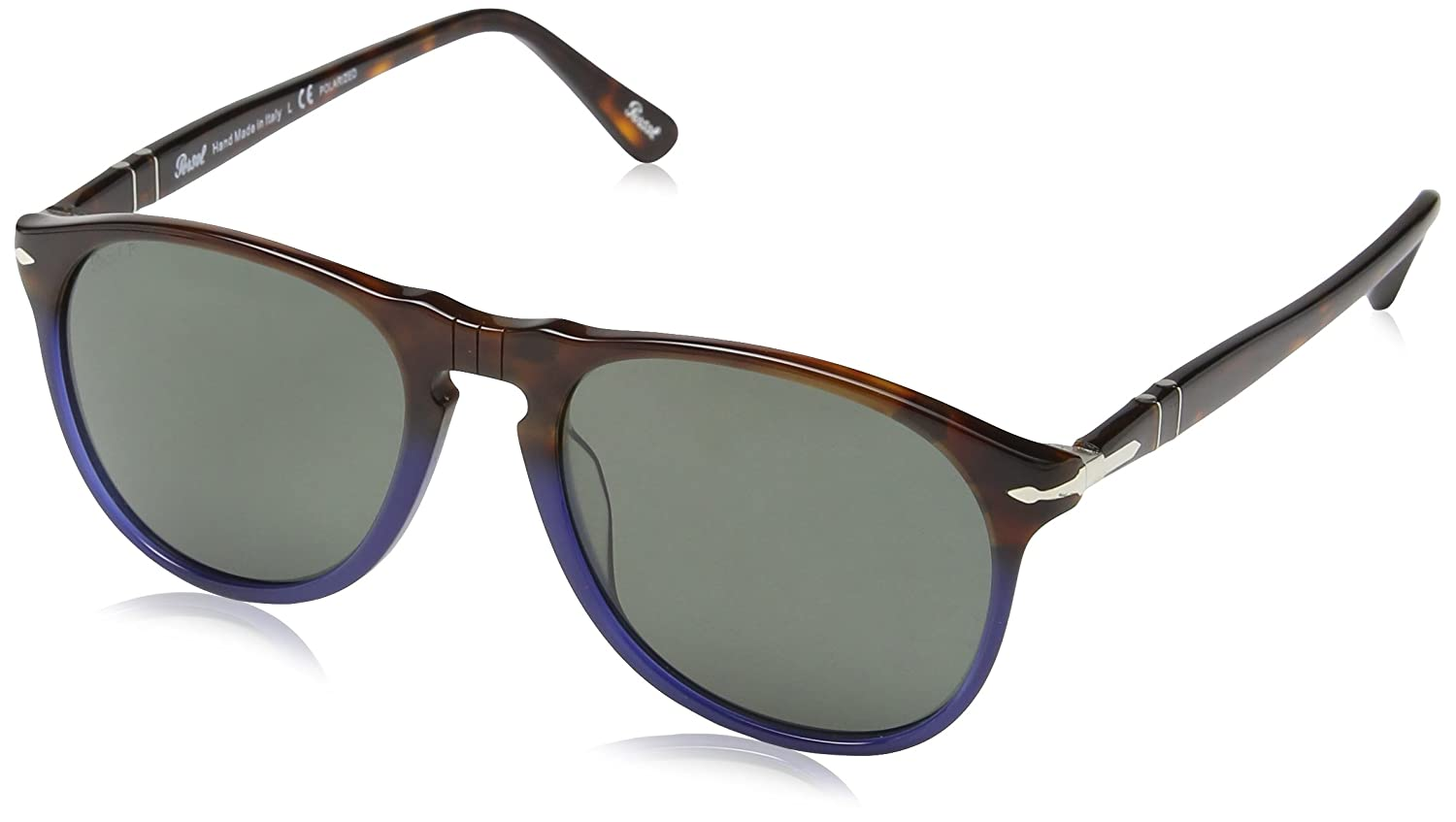 702ae7a31e45 Persol 1022/58 Brown-blue 9649S Oval Sunglasses Polarised Lens Category 3:  Amazon.in: Clothing & Accessories