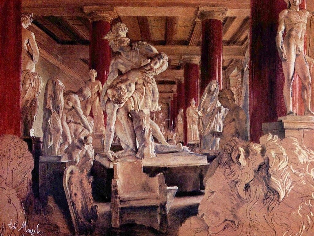 Lais Puzzle Adolf Friedrich Erdmann von Menzel - Aufbewahrungssaal während des Museumsumbaus 2000 Teile