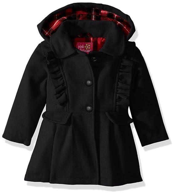 bf9cecef62a1 Amazon.com  Pink Platinum Baby Girls Cute Ruffles Wool Jacket  Clothing