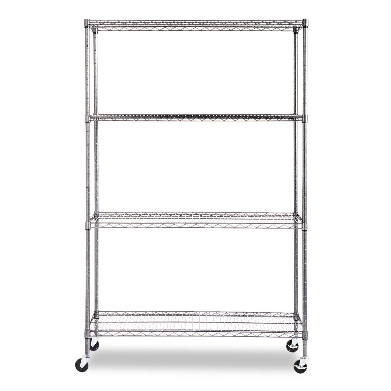 Amazon.com: Alera ALESW604818BA Complete Wire Shelving Unit w/Caster ...