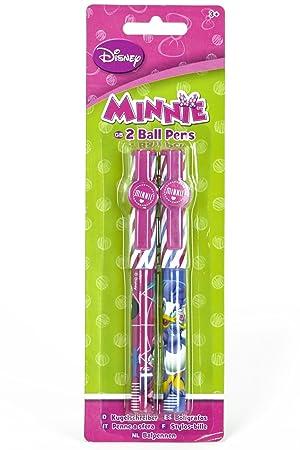 Disney Frozen Elsa Anna y Minnie Mouse 2 Paquete bolígrafo Escuela Papelería Set, color Minnie