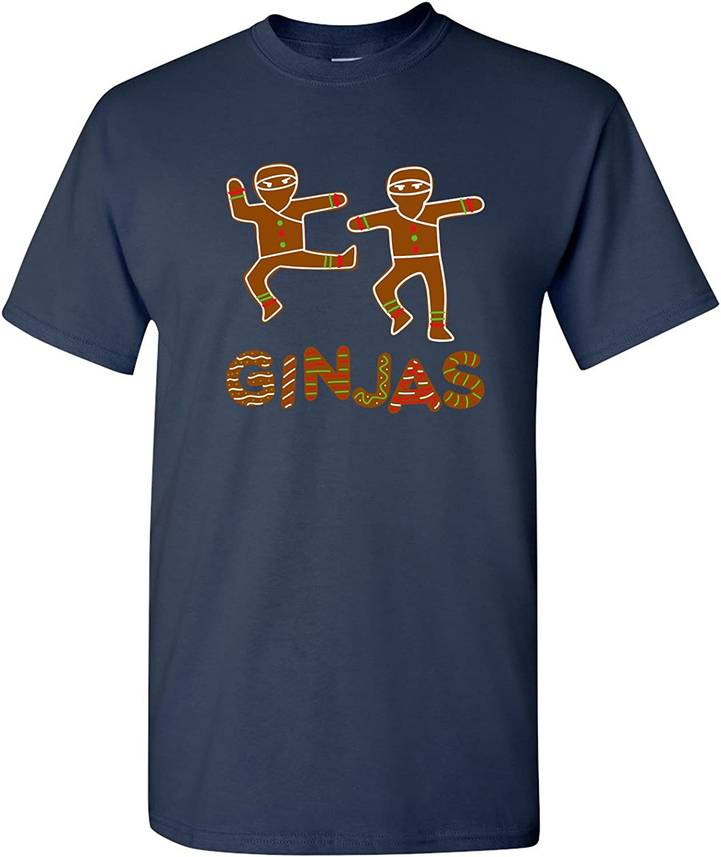 Ginjas Gingerbread Ninjas Funny Christmas Holiday T Shirt